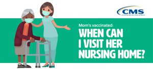 Graphic with headline When I Can I Visit Mom in the Nursing Home